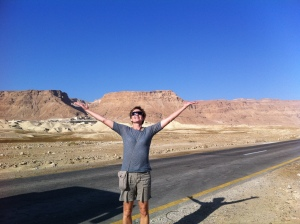 That's me at the base of Masada, Israel.