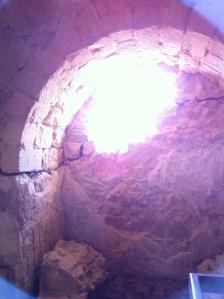The interior of Herod's bathouse at Masada
