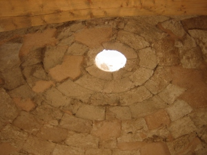 Domed ceiling in the bathhouse